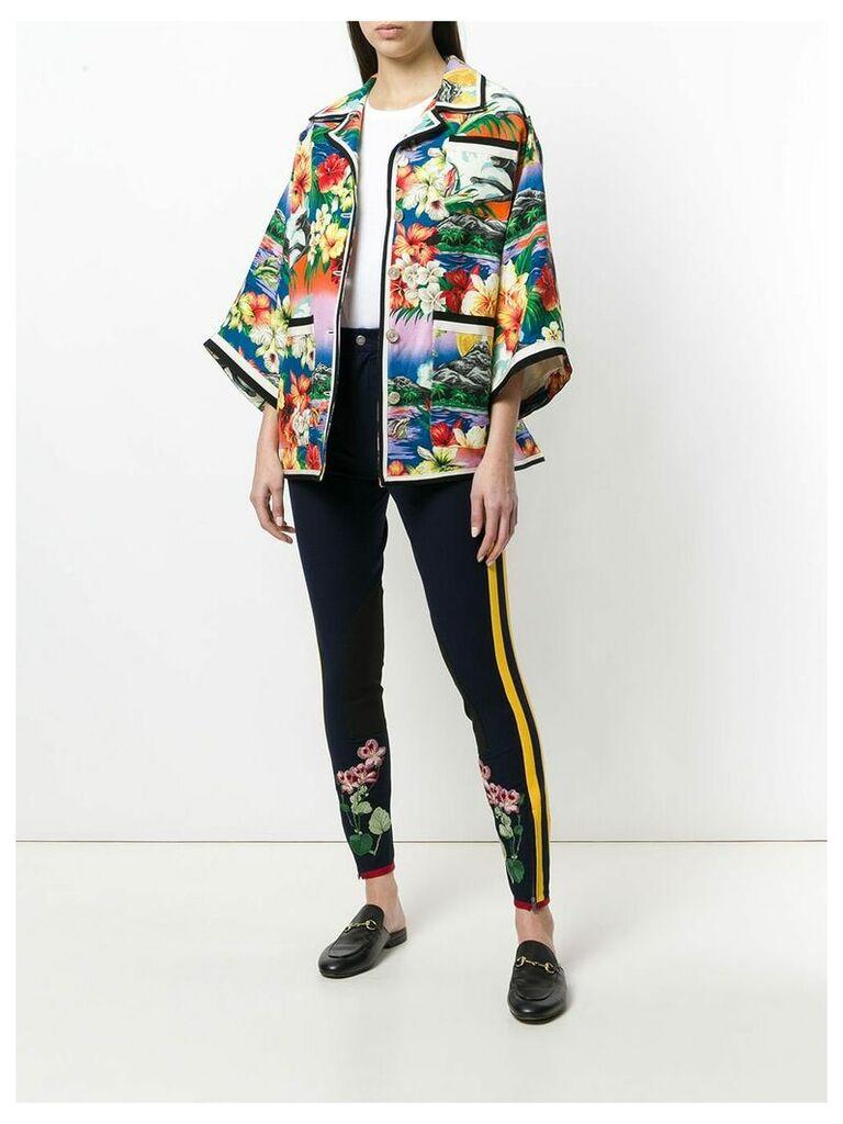 Gucci pocket detail exotic print jacket - Multicolour