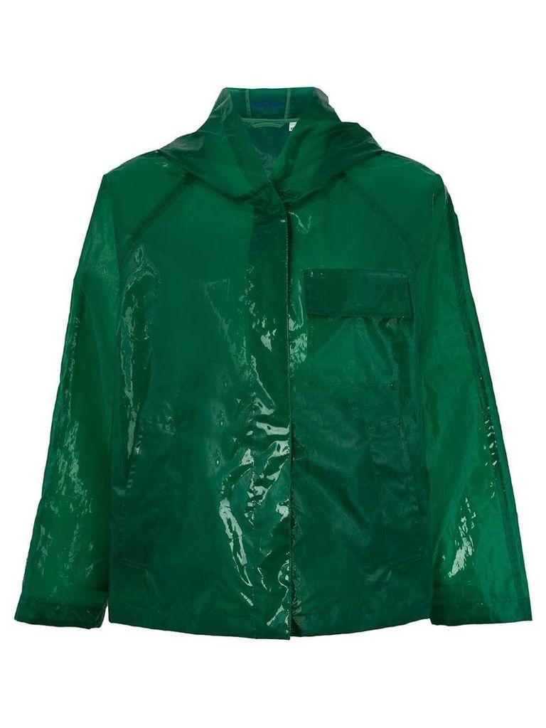 Aspesi translucent rain jacket - Green