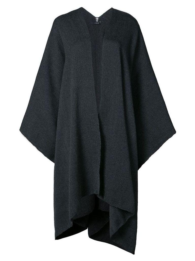 Voz draped V-neck cape - Grey