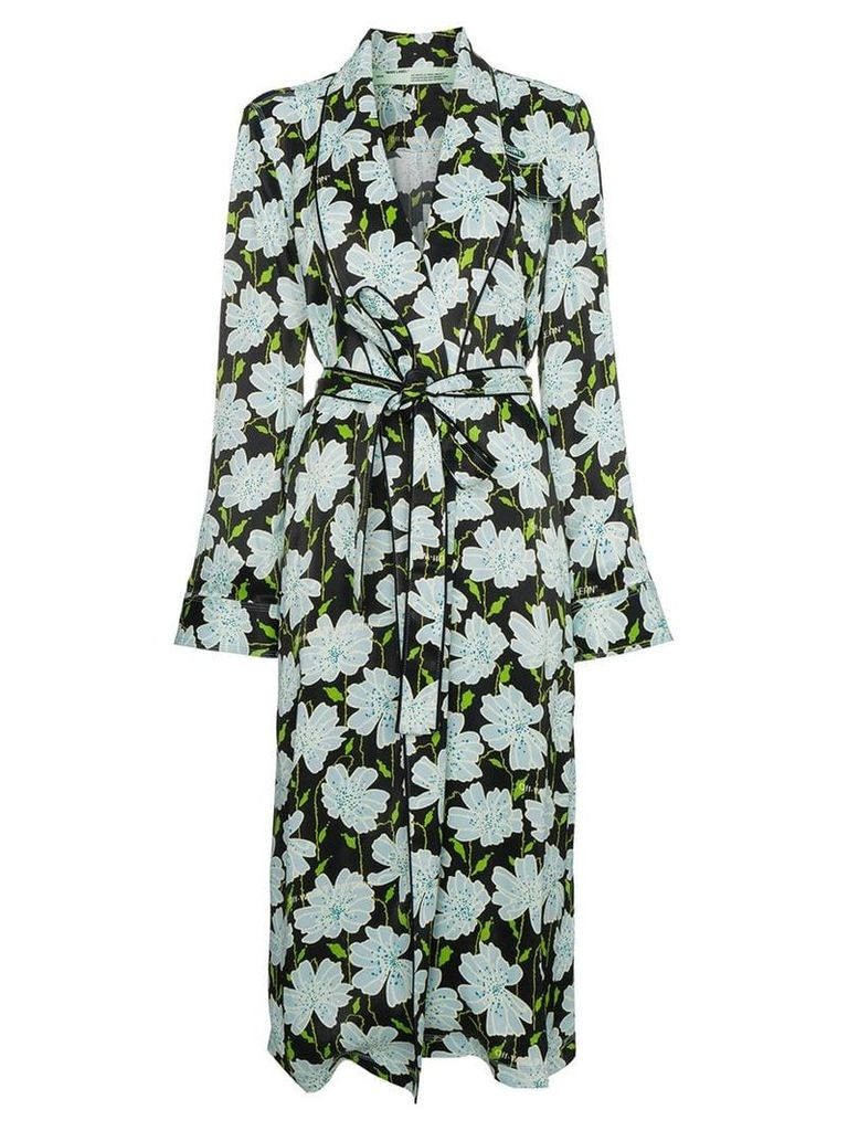 Off-White Floral belted robe jacket - Multicolour