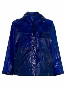 Aspesi translucent rain jacket - Blue