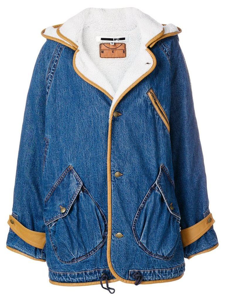 McQ Alexander McQueen oversized jacket - Blue