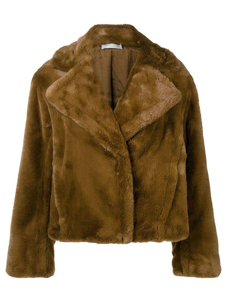 Vince oversized faux-fur jacket - Brown