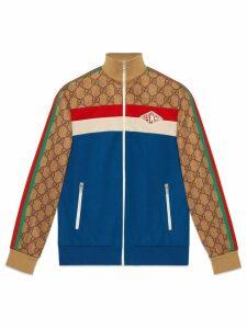 Gucci GG technical jersey jacket - Blue