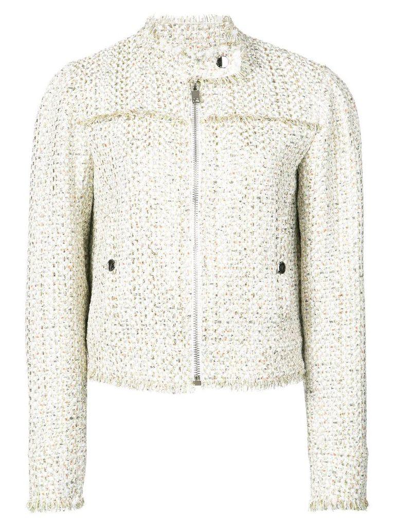 Giambattista Valli cropped tweed jacket - Nude & Neutrals