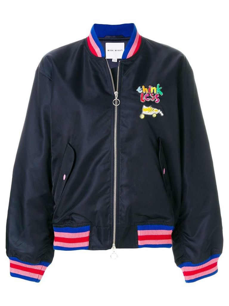 Mira Mikati Think Less bomber jacket - Blue