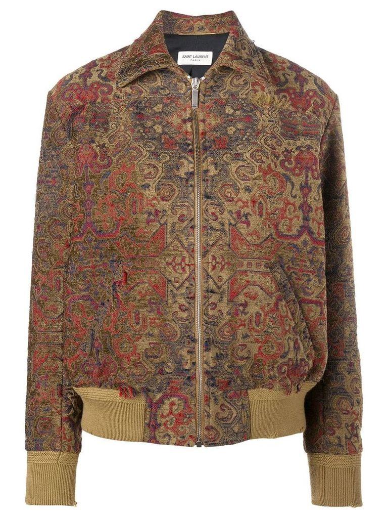 Saint Laurent Marrakech teddy jacket - Brown