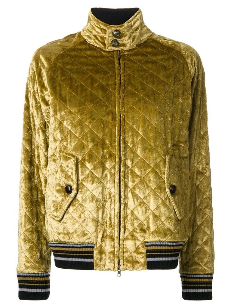 Maison Margiela quilted bomber jacket - Yellow & Orange