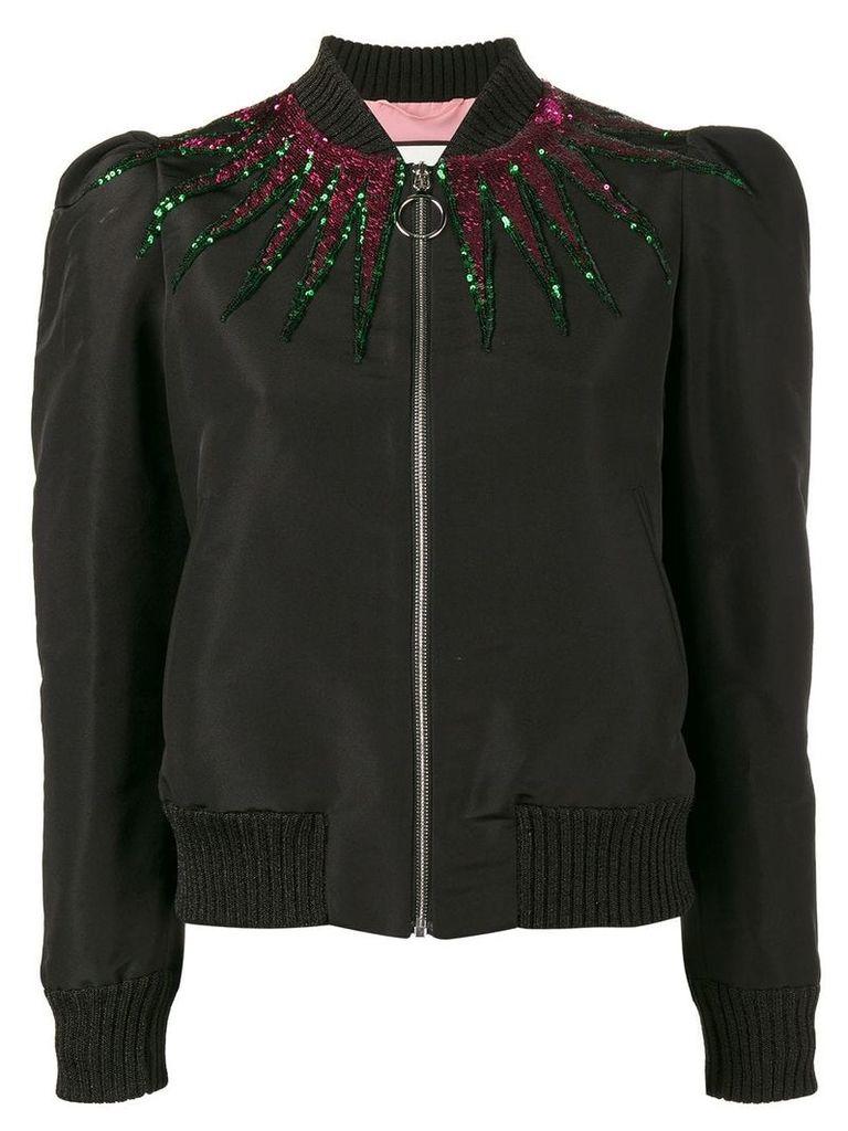 Gucci sequin embellished jacket - Black
