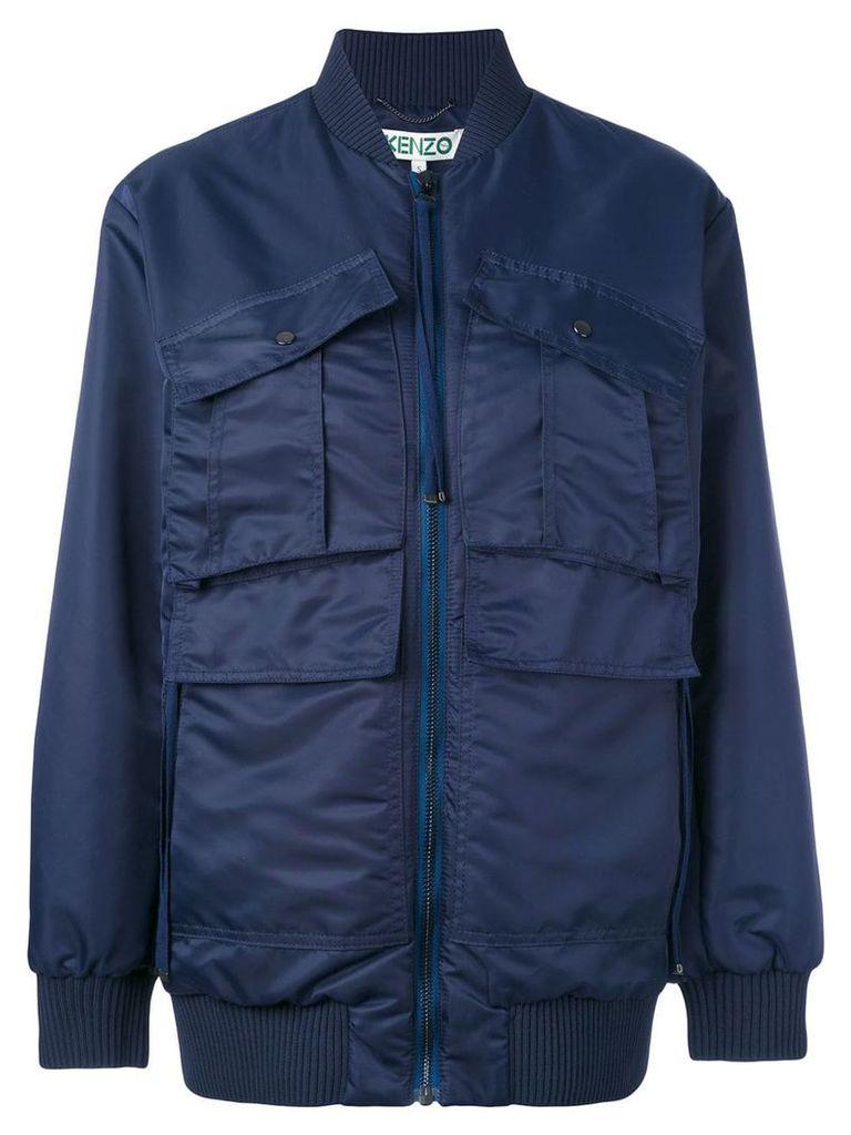 Kenzo utility bomber jacket - Blue