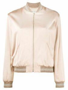 Saint Laurent love logo bomber jacket - PINK