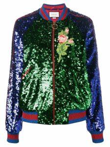 Gucci sequin embellished bomber jacket - Multicolour