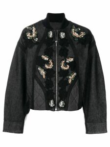 Antonio Marras sequin and floral embroidered jacket - Grey