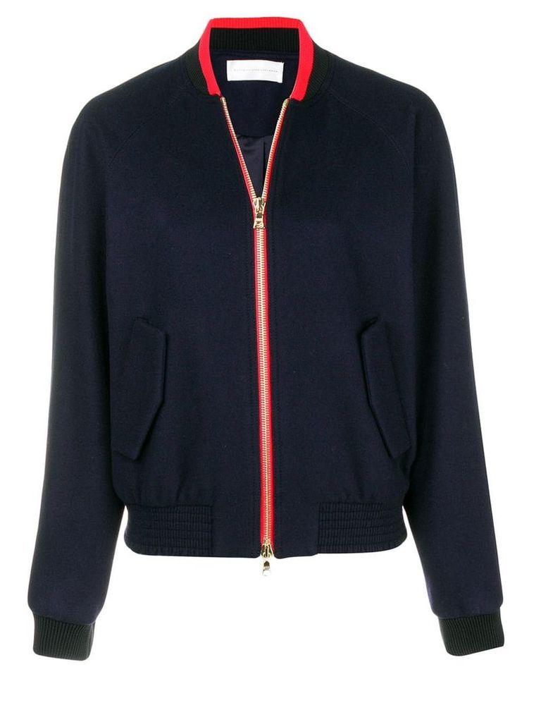 Victoria Victoria Beckham contrast bomber jacket - Blue