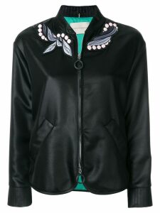 Marco De Vincenzo embroidered foulard bomber jacket - Black