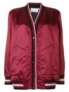T By Alexander Wang rib trimmed cardigan jacket - Red