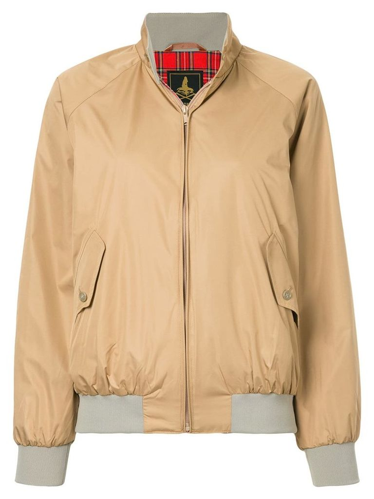 Hysteric Glamour stand-up collar bomber jacket - Nude & Neutrals