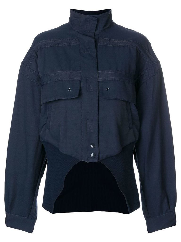 Stella McCartney cut-away bomber jacket - Blue