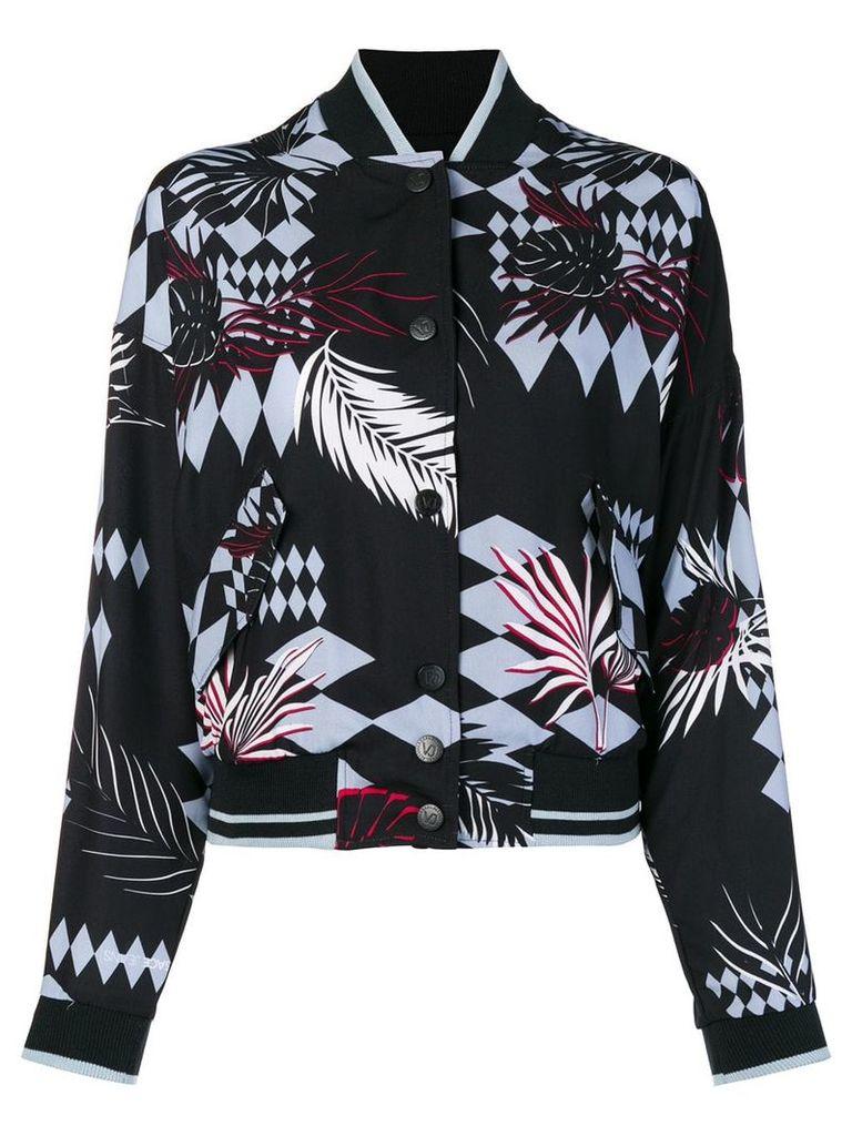 Versace Jeans floral bomber jacket - Black