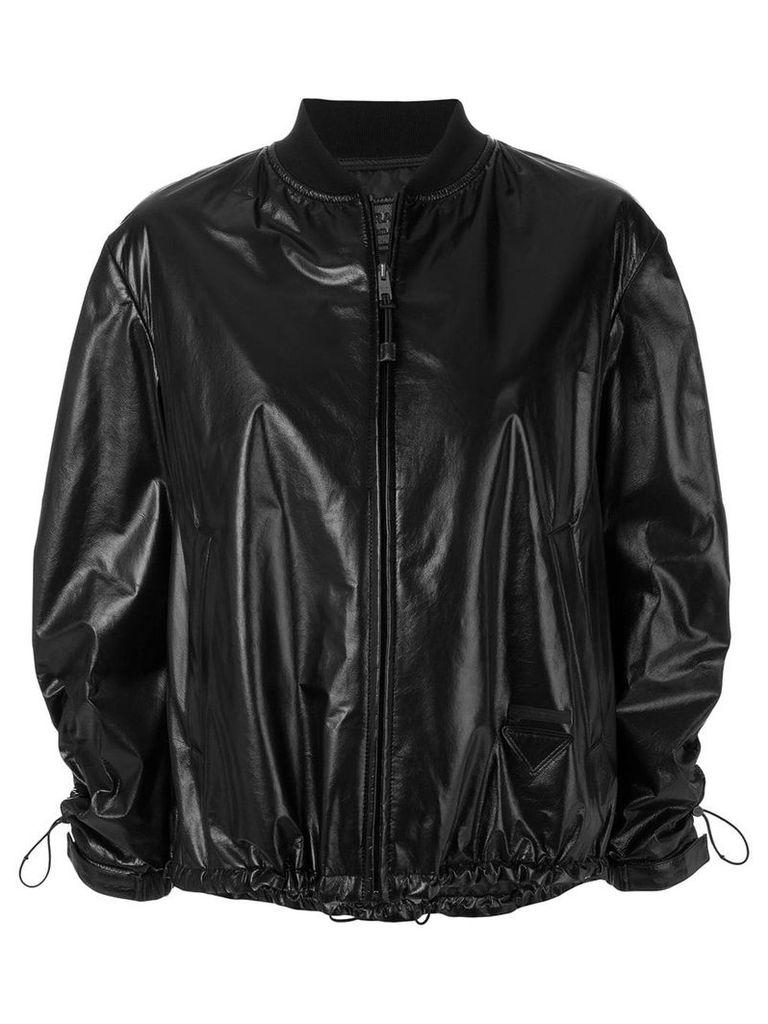 Prada drawstring bomber jacket - Black