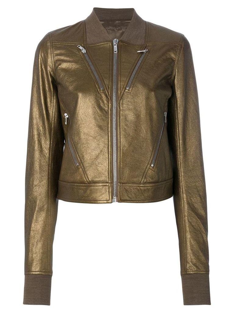 Rick Owens metallic bomber jacket