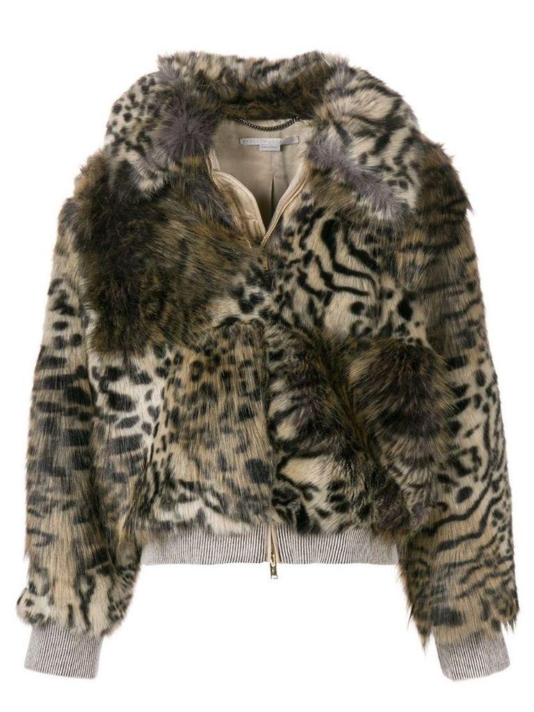 Stella McCartney leopard print jacket - Black