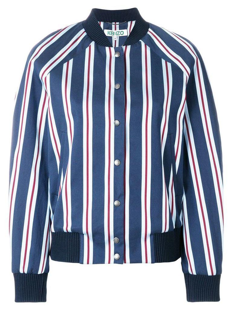 Kenzo striped bomber jacket - Blue