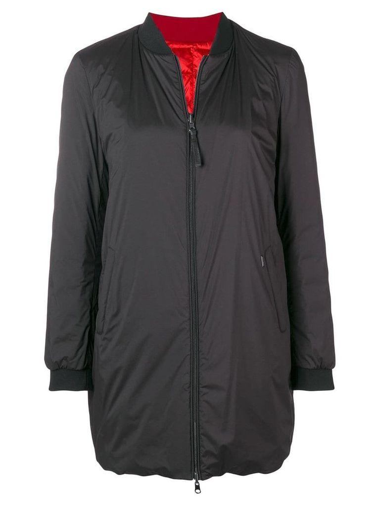 Woolrich reversible oversized bomber jacket - Black