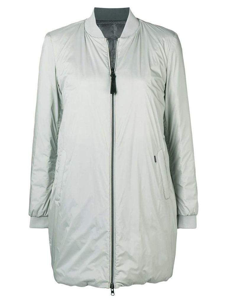 Woolrich reversible oversized bomber jacket - Grey