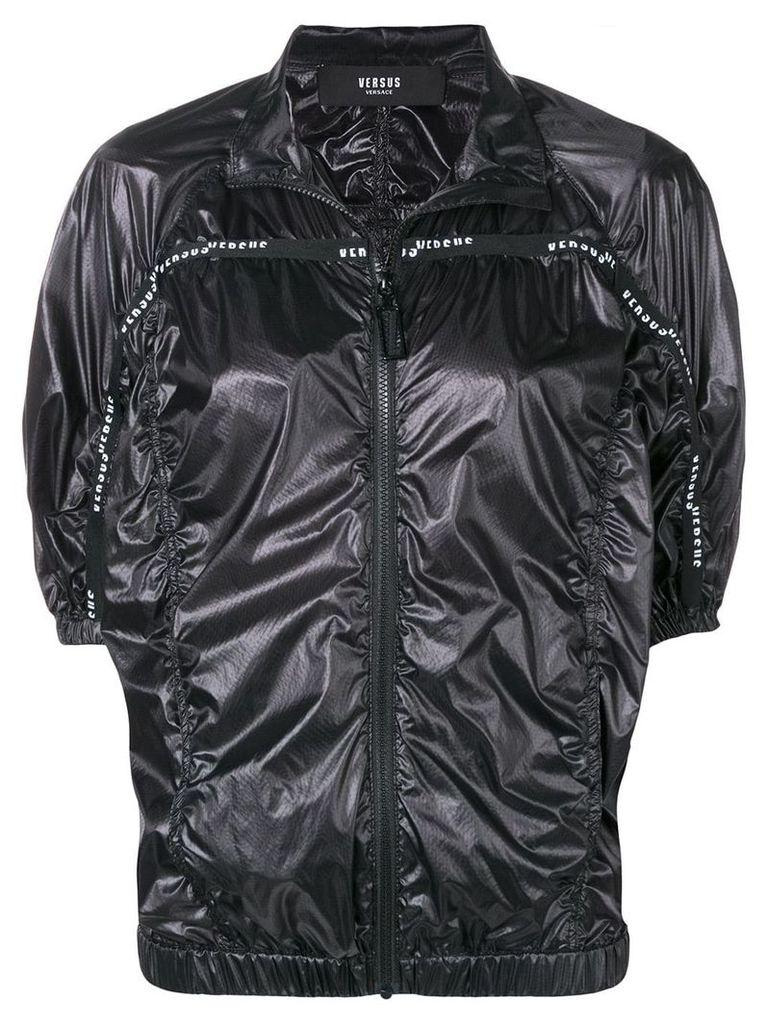 Versus short-sleeve ruched jacket - Black