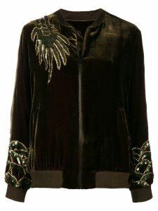 P.A.R.O.S.H. dragon embellished bomber jacket - Green