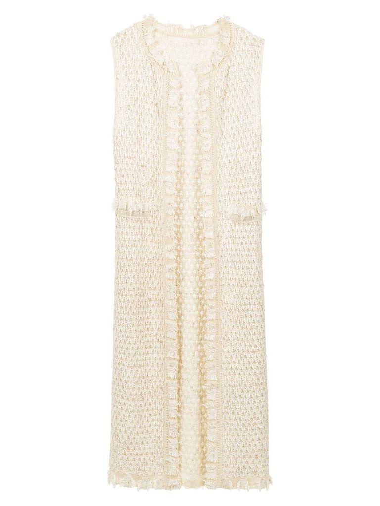 Cecilia Prado Rosamar knit gilet - Nude & Neutrals