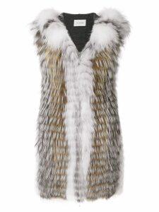 Yves Salomon fox fur Renard vest - Multicolour