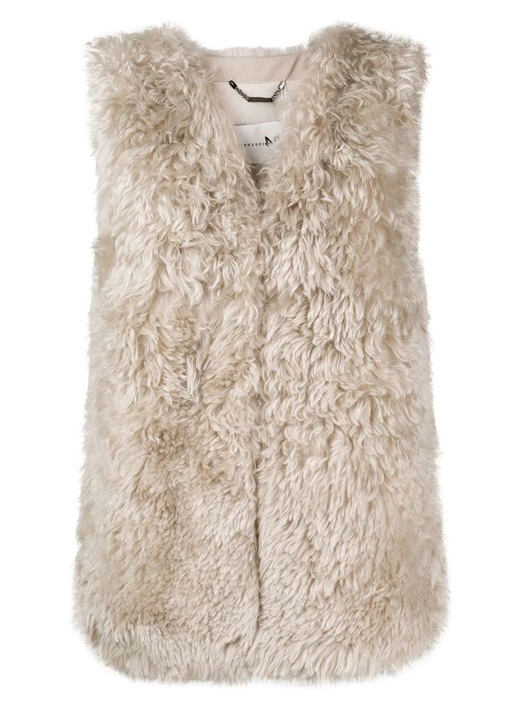 Manzoni 24 concealed fastening gilet - Nude & Neutrals