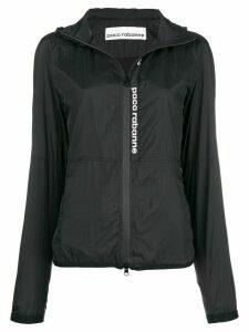 Paco Rabanne logo raincoat - Black
