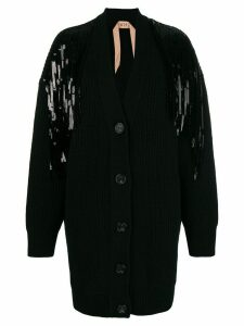Nº21 sequin midi cardigan - Black