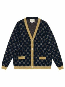 Gucci GG cotton lurex cardigan - Blue