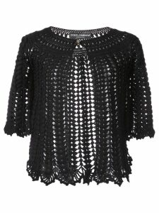 Dolce & Gabbana cropped knit cardigan - Black