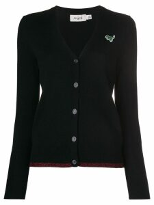 Coach Rexy embroidered cardigan - Black