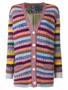 Gucci Tiger Card print reversible cardigan - Multicolour
