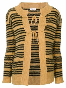 Sonia Rykiel stripe knitted cardigan - Yellow