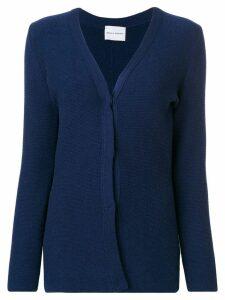 Ursula Conzen v-neck cashmere cardigan - Blue