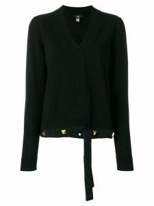 Cavalli Class studded cardigan - Black