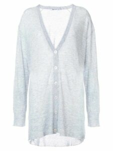 T By Alexander Wang oversized V-neck cardigan - Blue