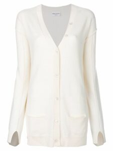 Sonia Rykiel long V-neck cardigan - Neutrals