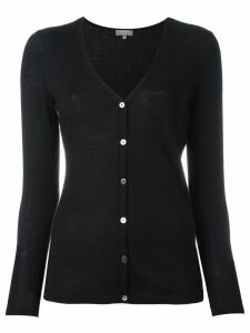 N.Peal cashmere superfine v-neck cardigan - Black