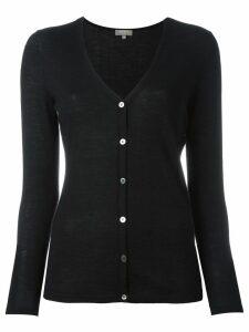 N.Peal cashmere superfine v-neck cardigan - Black