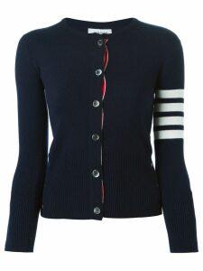Thom Browne 4-bar stripe cardigan - Blue