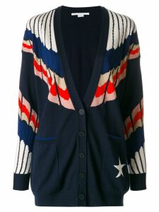Stella McCartney deep V-neck cardigan - Blue