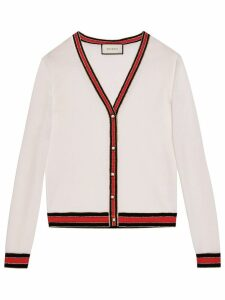 Gucci Merino wool knit cardigan - White